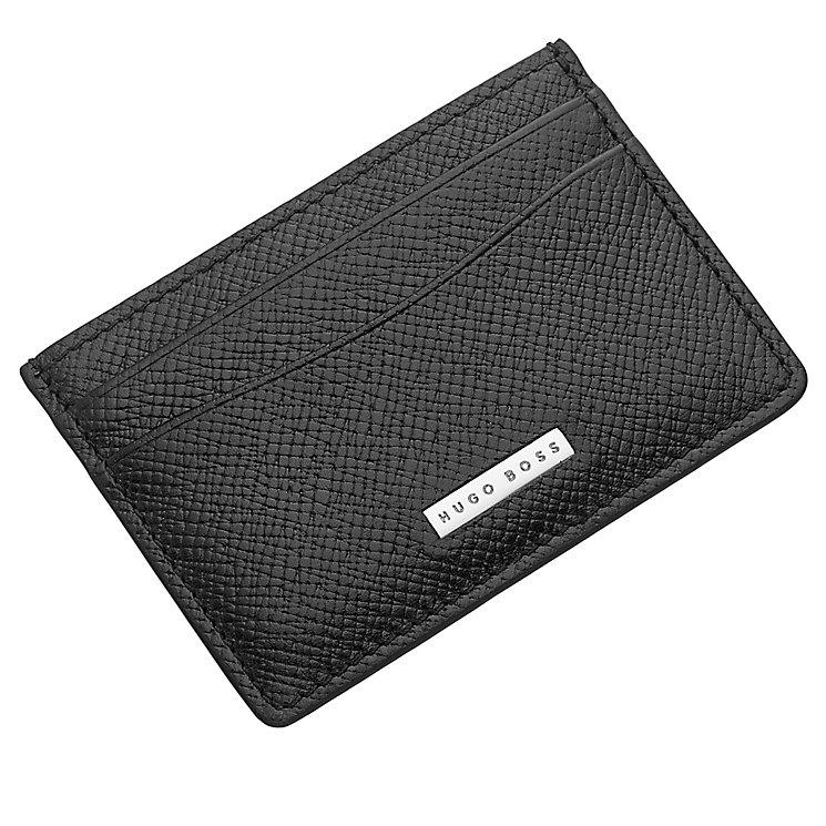 Hugo Boss Men's Black Leather Cardholder - Product number 4199421
