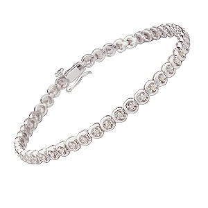 9ct white gold half carat diamond tennis bracelet - Product number 4202430