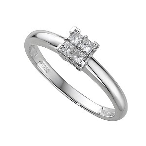 Platinum fifth carat princess cut diamond ring - Product number 4203941