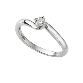 18ct white gold 15 point diamond solitaire ring - Product number 4204840