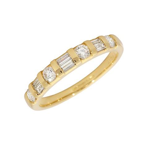 18ct gold half carat diamond half-eternity ring