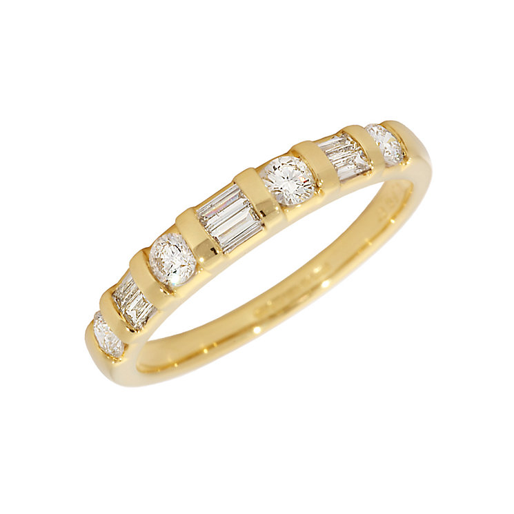 18ct gold brilliant and baguette cut diamond ring - Product number 4210115