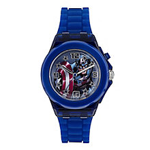 Children's Captain America Light Up Silicone Strap Watch - Product number 4211200