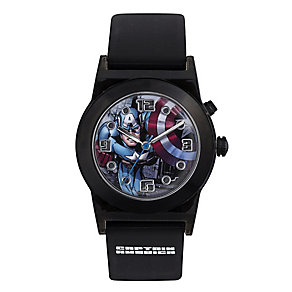 Children's Captain America Flashing Black Strap Watch - Product number 4211294