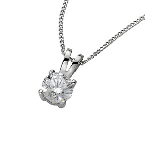 18ct white gold half carat diamond pendant - Product number 4213440