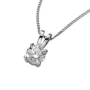 18ct white gold half carat diamond pendant - Product number 4213440