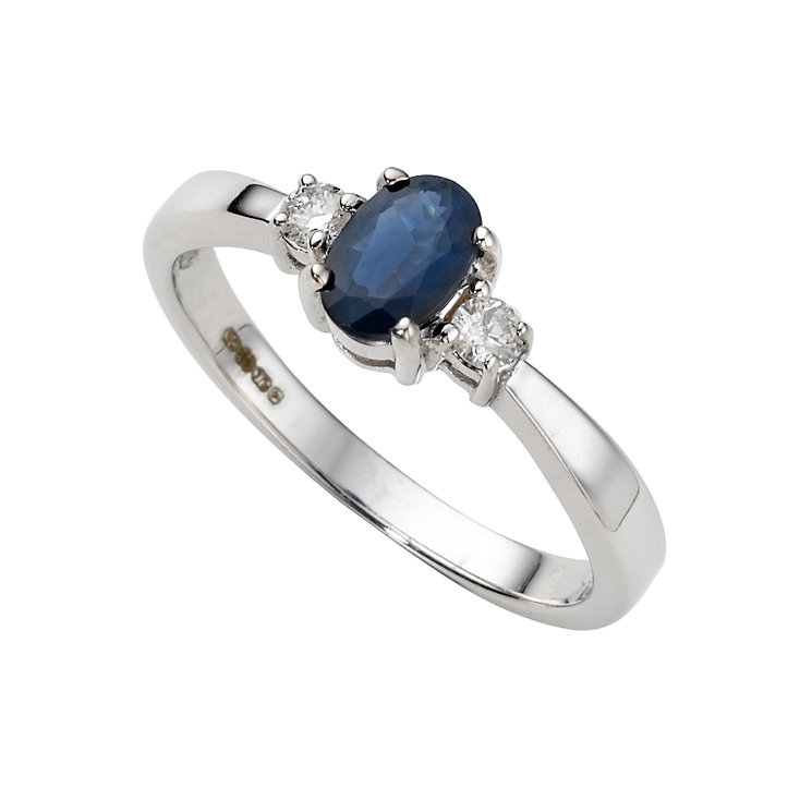 9ct white gold sapphire and diamond ring Ernest Jones