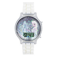Children's Frozen Elsa Snow Globe White Strap Watch - Product number 4219007