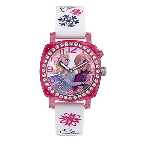 Children's Frozen Elsa & Anna Flashing Dial Strap Watch - Product number 4219015