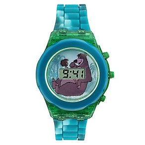 Jungle Book Children's Flashing LCD Blue Strap Watch - Product number 4219023