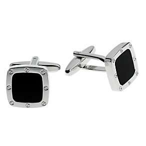 Screw Detail Black Resin Cufflinks - Product number 4219244