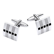 Jet Coloured Crystal Set Cufflinks - Product number 4219252