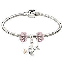 Chamilia Sterling Silver Pink Splendor & Dove Bead Bracelet - Product number 4219309