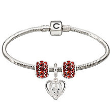 Chamilia Sterling Silver Red Splendor & Forever Bracelet - Product number 4219317