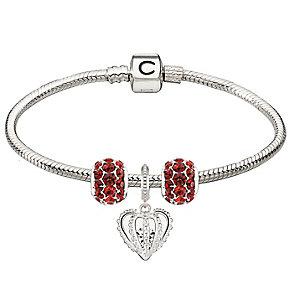 Chamilia Sterling Silver Red Splendor & Forever Bracelet - Product number 4219317