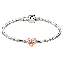 Chamilia Sterling Silver Rose Gold Mum Bead Bracelet - Product number 4219325