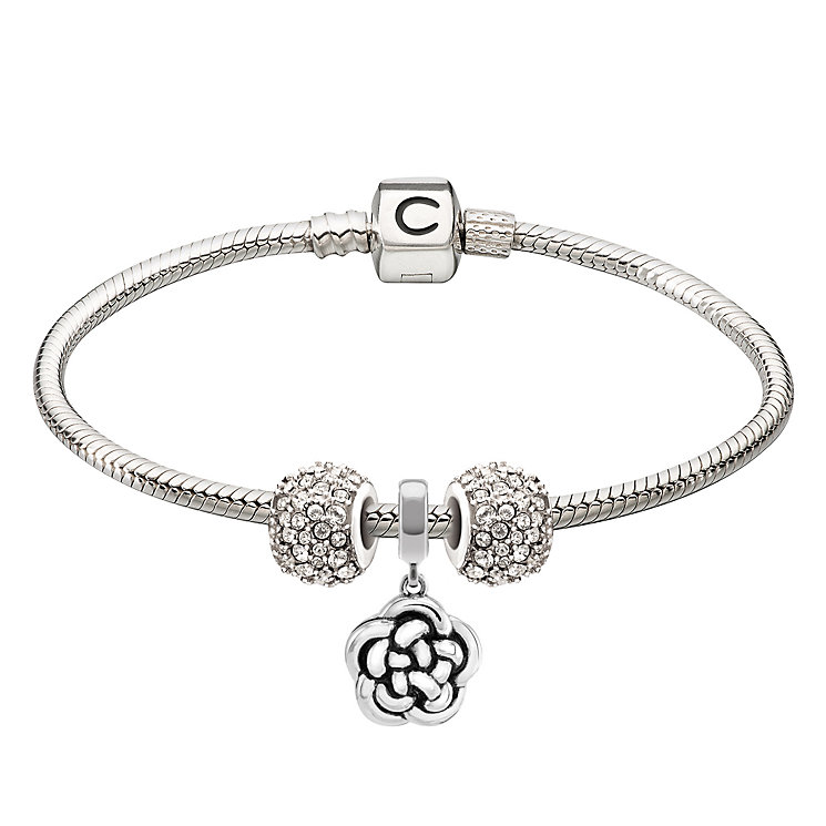 Chamilia Sterling Silver Family & Kaleidoscope Bead Bracelet - Product number 4219341