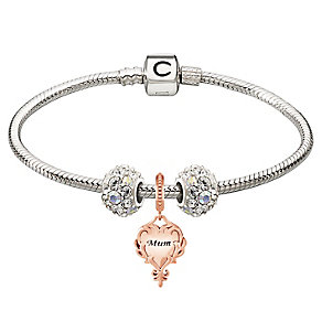 Chamilia Silver Rose Gold Mum & Splendor Bead Bracelet - Product number 4219368