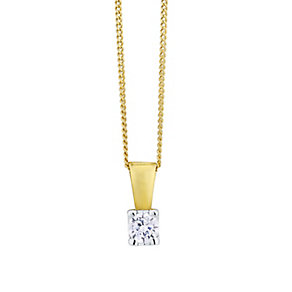 The Forever Diamond 18ct Gold 0.15 Carat Diamond Pendant - Product number 4220374