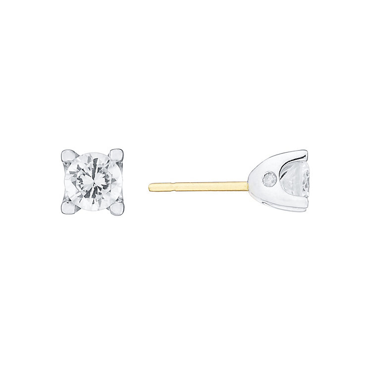 18ct Gold 2/3 Carat Forever Diamond Earrings - Product number 4220463