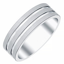 Men's Titanium 3-Row 7MM Ring - Product number 4222032