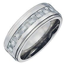 Men's Titanium Grey Carbon Fibre Ring - Product number 4222202