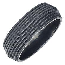 Men's Black Titanium 8mm Ridged Band - Product number 4222210