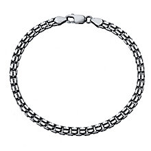 "Men's Silver 8"" Box Chain Bracelet - Product number 4222598"