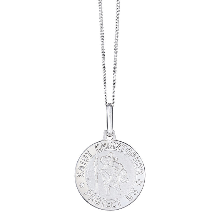 "Men's 9ct 18"" White Gold Pendant - Product number 4222601"