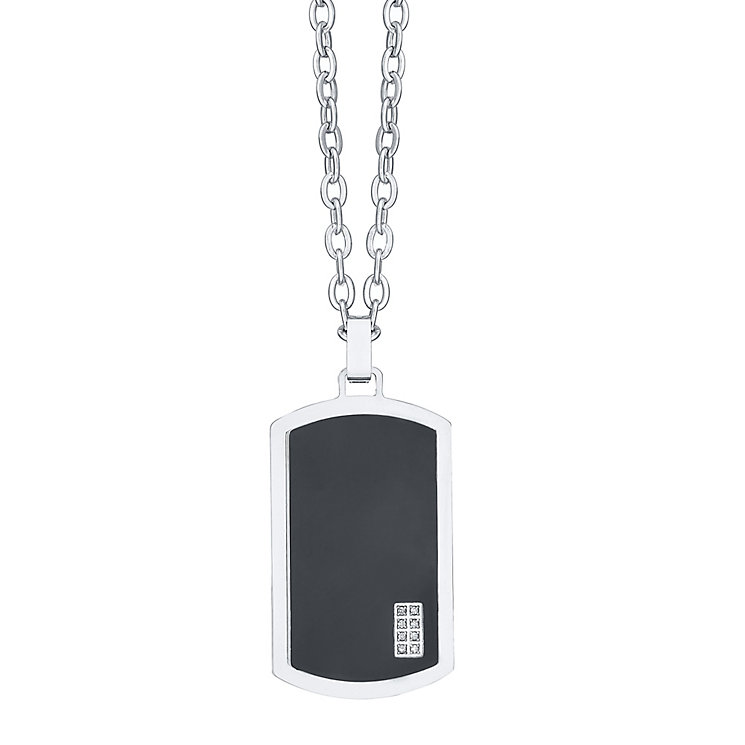Men's Sterling Silver Dogtag - Product number 4225686