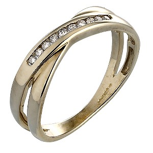 9ct Gold Diamond Ring - Product number 4225759