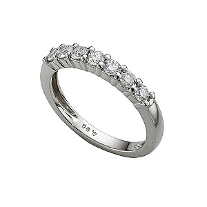 Platinum half carat diamond half-eternity ring - Product number 4228243