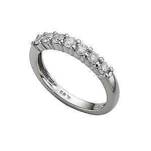 Platinum half carat diamond half-eternity ring - Product number 4228243