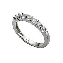 Platinum 0.50ct diamond half-eternity ring - Product number 4228243