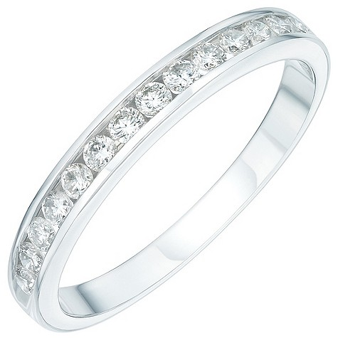 Platinum third carat diamond half-eternity ring