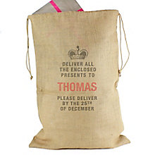 "Personalised ""Deliver To"" Hessian Christmas Sack - Product number 4229568"