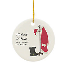 "Personalised ""Santas Home For Christmas"" Ceramic Decoration - Product number 4229843"