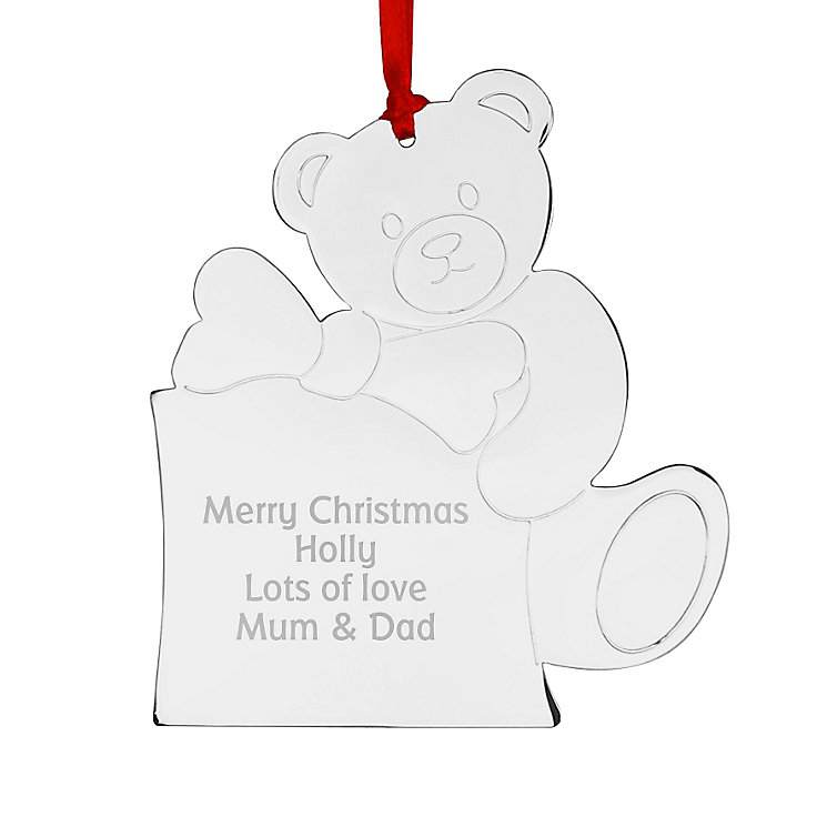 Engraved Teddy Tree Decoration - Product number 4229894