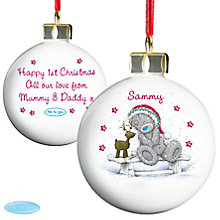 Personalised Me To You Reindeer Bauble - Product number 4229916
