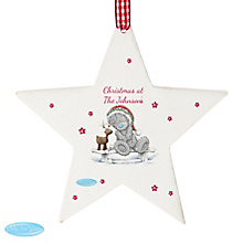 Personalised Me To You Reindeer Wooden Star Decoration - Product number 4229940