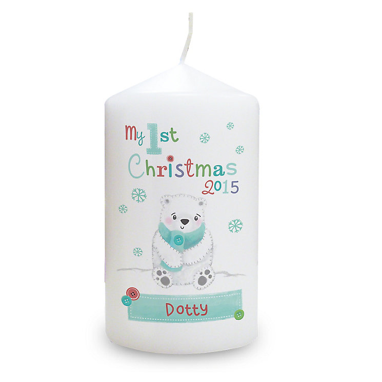 Personalised Polar Bear My 1st Christmas Candle - Product number 4230000