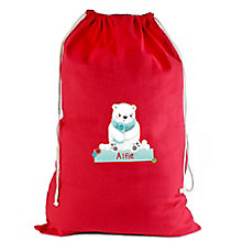 Personalised Polar Bear Cotton Sack - Product number 4230043