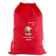 Personalised Father Christmas Red Cotton Sack - Product number 4230094
