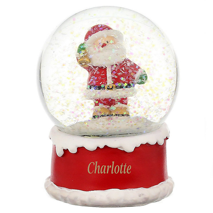 Engraved Santa Snow Globe - Product number 4230272