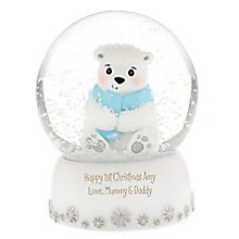 Engraved Polar Bear Snow Globe - Product number 4230299