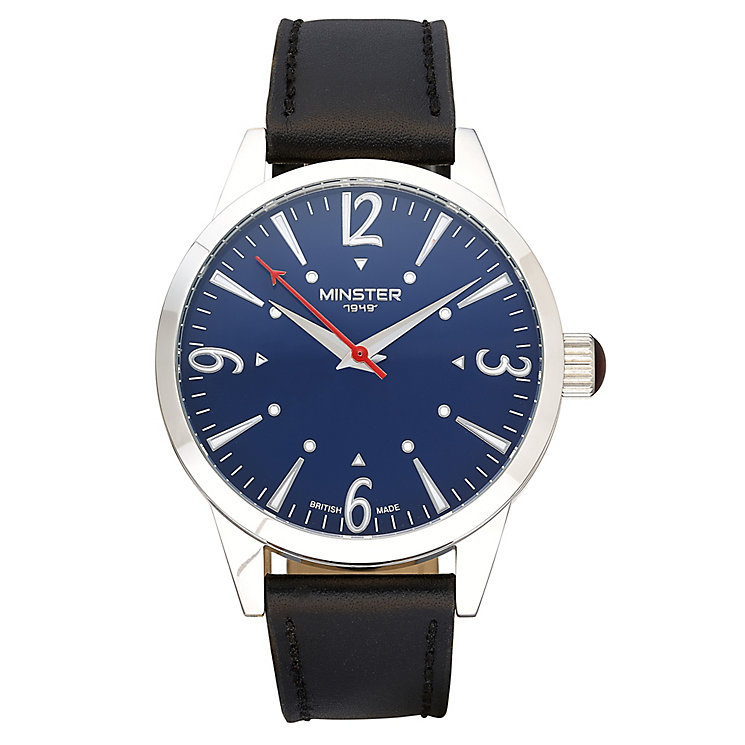 Minster Crofton Men's Stainless Steel Round Strap Watch - Product number 4230418