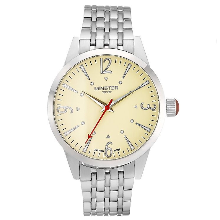 Minster Crofton Men's Stainless Steel Round Bracelet Watch - Product number 4230450