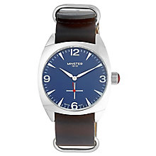Minster Burlingham Men's Stainless Steel Round Strap Watch - Product number 4230477