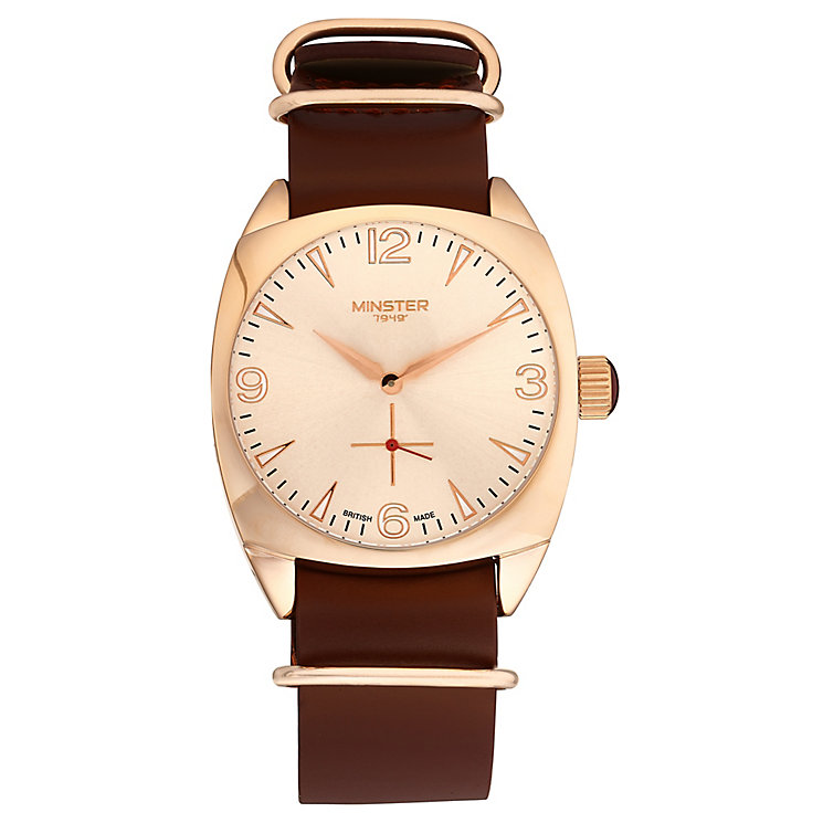 Minster Burlingham Men's Rose Gold-plated Strap Watch - Product number 4230647