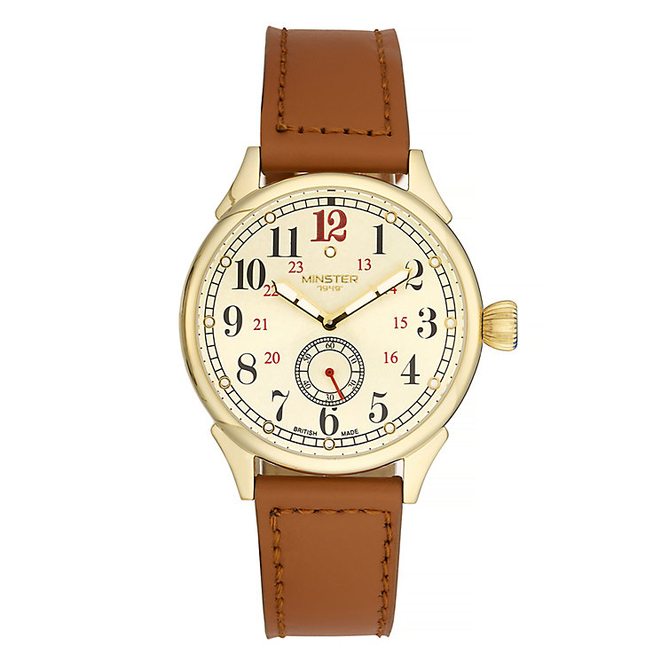 Minster Boyland Men's Gold-plated Strap Watch - Product number 4230671